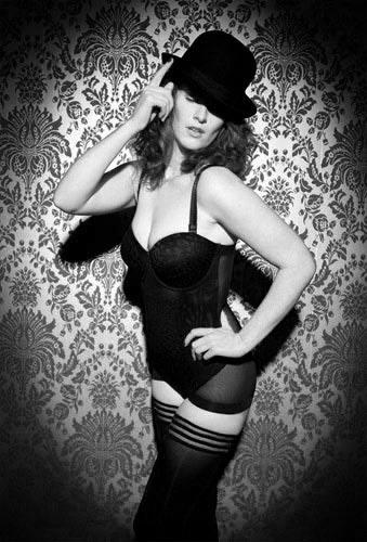 picture of model at a boudoir photography shoot